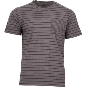 United By Blue M's Standard Stripe SS Tee Steel Grey